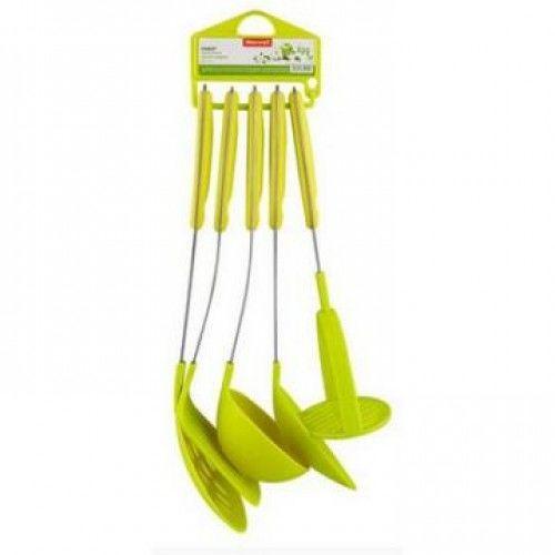 Набор кухонных принадлежностей 4 пр пластик зеленый