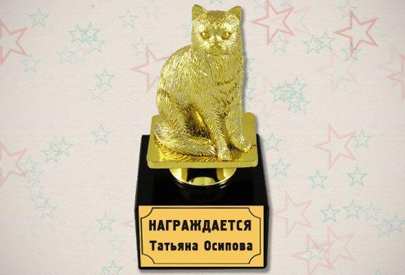 Поздравление к сувениру кошка